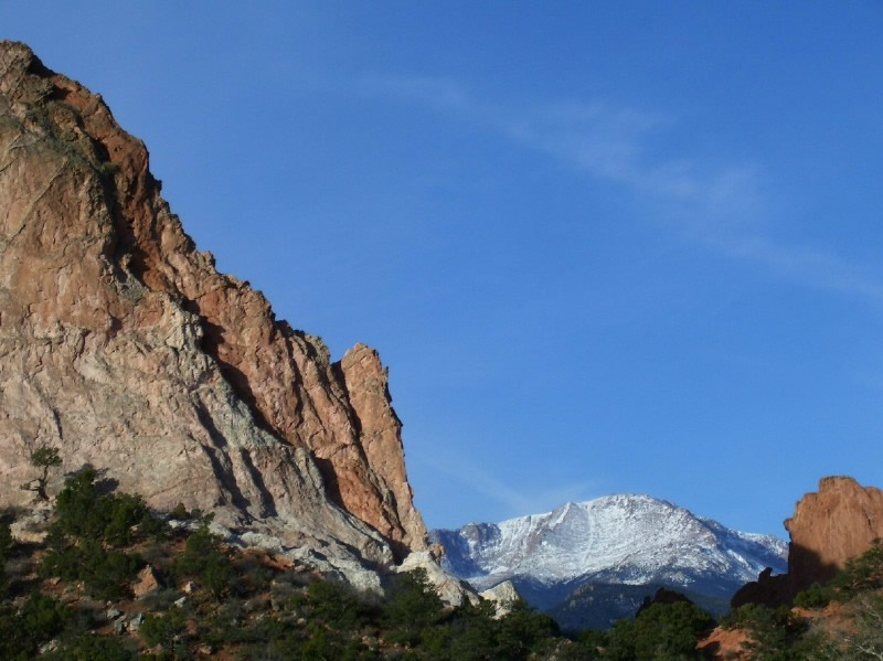 Pikes Peak from Garden of the Gods Park